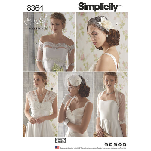 Simplicity Pattern 8364 Misses' Cover-Ups, Fascinator, and Hat