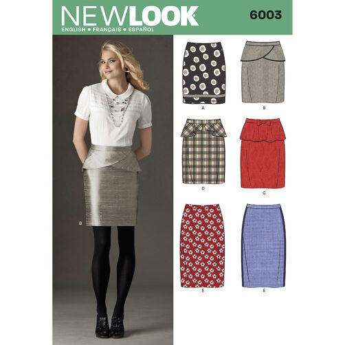 New Look Pattern 6003 Misses' Skirts