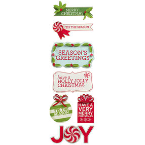 Peppermint Winter Holiday Phrase Stickers_48-30241