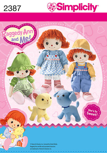 Simplicity Pattern 2387 Raggedy Ann and Me Doll