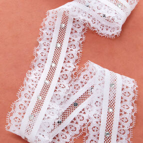 "1-7/8"" Ruffle Lace with Rhinestones"