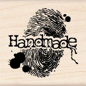 Handmade Fingerprint Wood Stamp_60-00803
