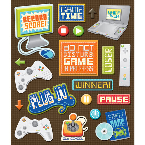 Video Games Sticker Medley_30-587267