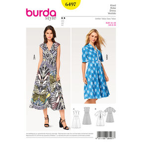 Burda Style Pattern B6497 Misses' V-Neck Dress