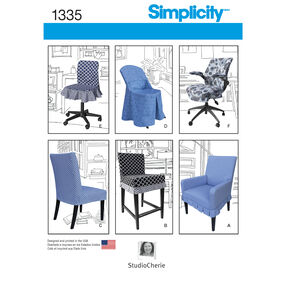 Simplicity Pattern 1335 Chair Covers for Ikea® and Realspace® Chairs