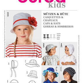 Burda Style Pattern 9496 Caps & Hats