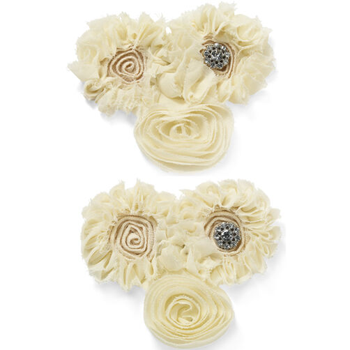 Cream Cluster Flower Embellishments_50-50448