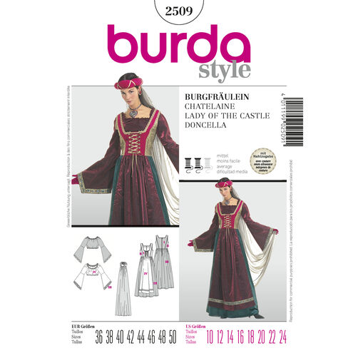 Burda Style Pattern 2509 Lady of the Castle