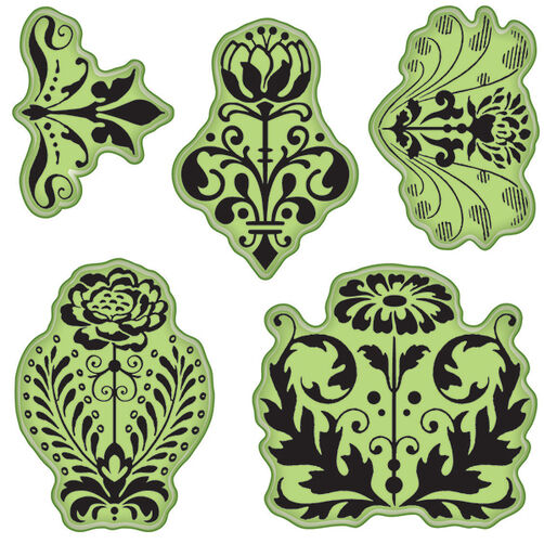 Floral Damask Cling Stamps_65-32077