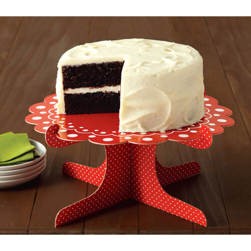 Cottage Christmas Cake Stand_48-30129