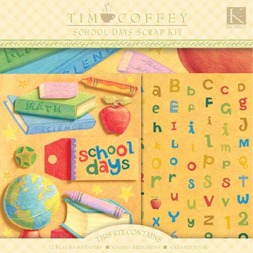 Tim Coffey 8.5x8.5 School Days Scrap Kit_670679