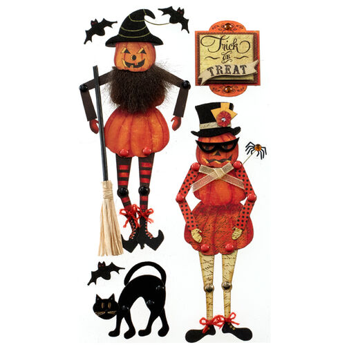 Poseable Jack-o'-Lantern Stickers_50-50613