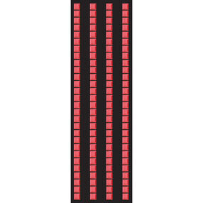 Red Mosaic Border Stickers_50-00211