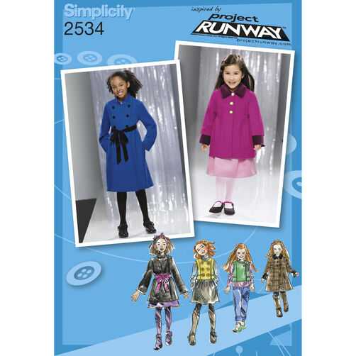 Simplicity Pattern 2534 Child's & Girls' Jackets & Coats