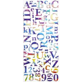 Watercolor Metallic Large Alphabet Stickers_52-10162