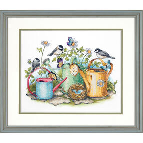 Watering Cans, Stamped Cross Stitch_70-03243