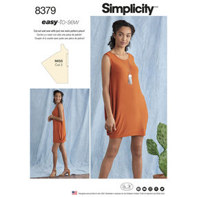 Simplicity Pattern 8379 Misses' Knit Dress
