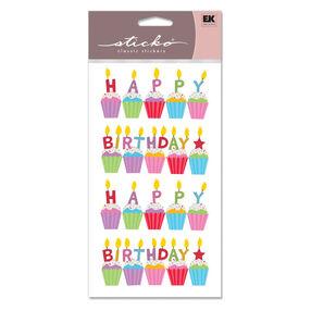 Birthday Cakes Glitter Classic Stickers_SPSG130