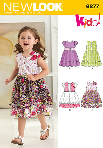 Toddlers' Dress with Fabric Variations