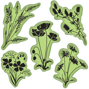 Meadow Flowers Cling Stamps_65-32080
