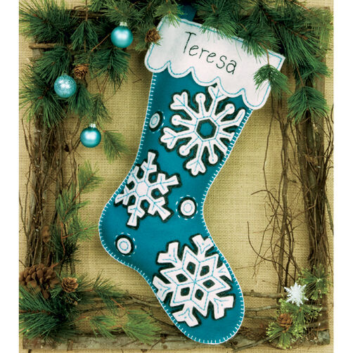 Flurries Stocking, Felt Applique_72-08177