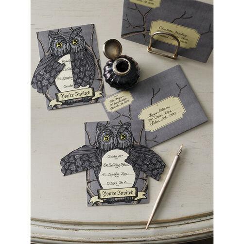 Elegant Witch Owl Invitations_48-20006