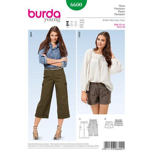 Burda Style Pattern 6600 Pants