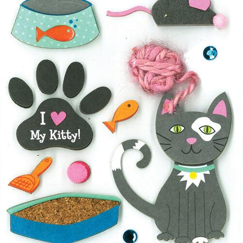 Kitty Love Dimensional Sticker _30-577459