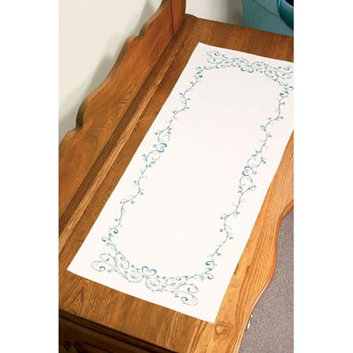 Filigree Scroll Dresser Scarf, Embroidery_73365