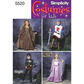 Simplicity Pattern 5520 Child's Costumes