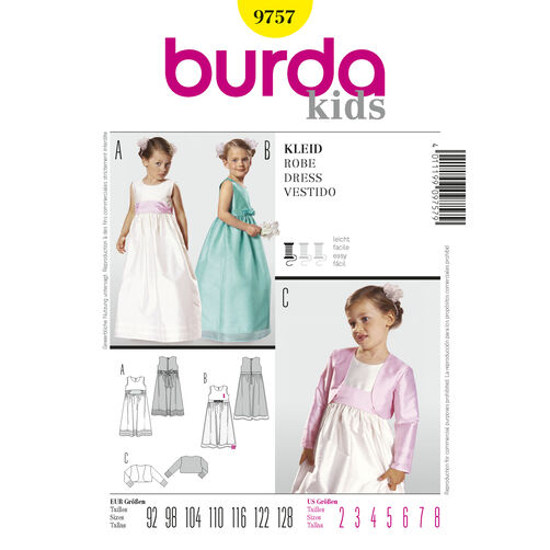 Burda Style Pattern 9757 Dress