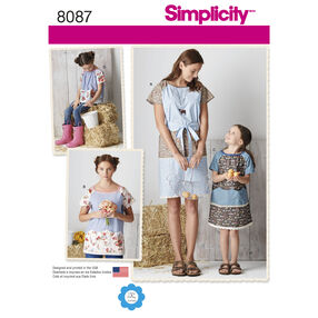 Simplicity Pattern 8087 Child's and Misses' Pullover Dress and Top