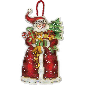 Santa Ornament, Counted Cross Stitch_70-08895