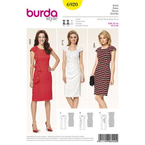 Burda Style Pattern 6920 Dresses