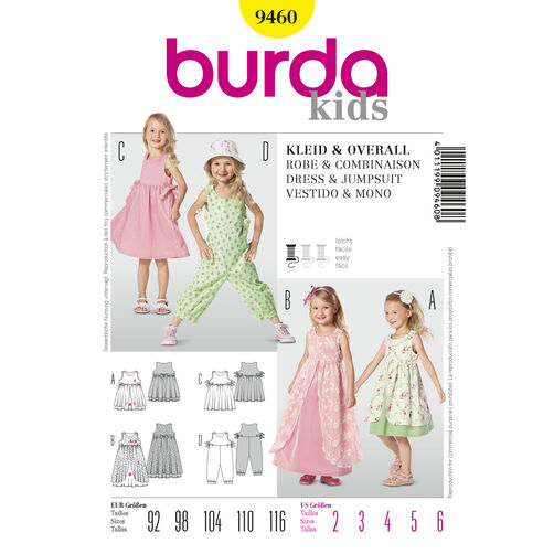 Burda Style Pattern 9460 Dress & Jumpsuit