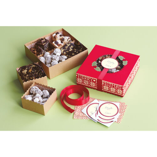Cottage Christmas Compartment Treat Boxes_48-30157