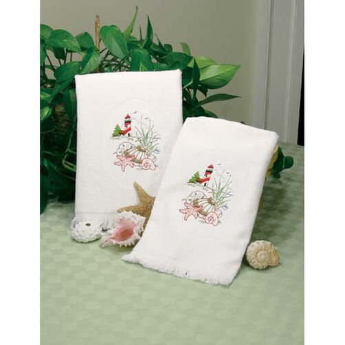 Lighthouse Guest Towels, Embroidery_73218