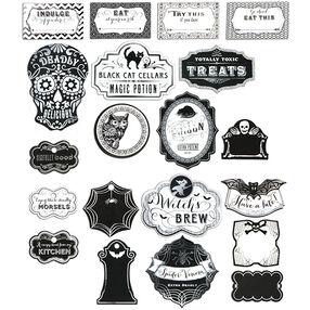 Black & White Halloween Label Stickers_50-40353