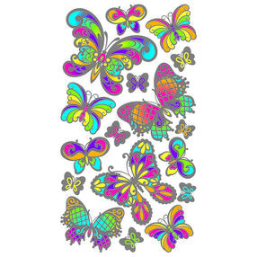 Stained Glass Butterfly stickers _52-00967