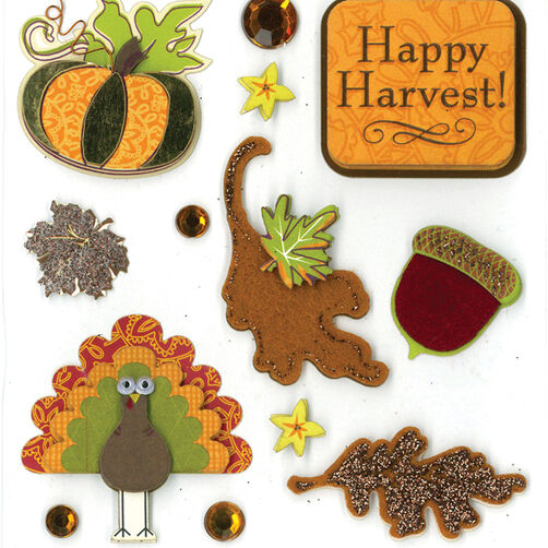 Happy Harvest Dimensional Sticker  _30-577503