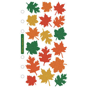 Classic Fall Leaves Metallic Stickers_SPMH07