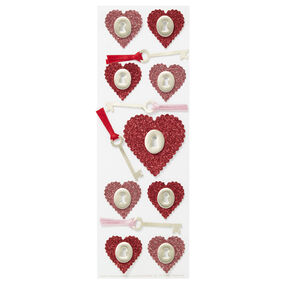 Glitter Heart And Key Stickers_41-00048