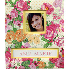 Pink Floral Frame-a-Name Scrapbook_30-672154