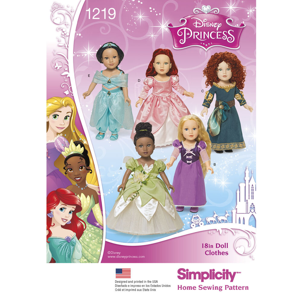Pattern For Disney Princess 18 Quot Doll Clothes Simplicity