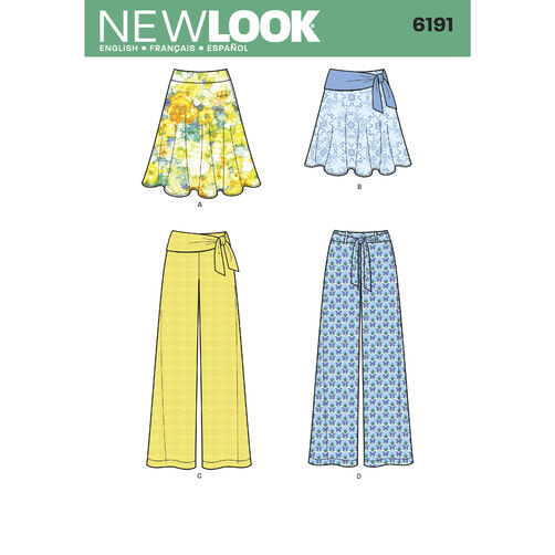 Misses' Skirt, Pants and Tie Belt