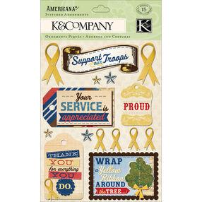 Americana Yellow Ribbon Stitched Adornments_30-614284