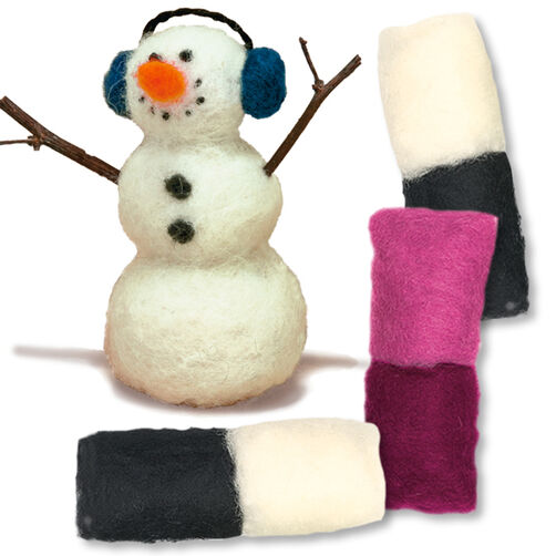 Snowman Needle Felting Characters, Set of 2_149106
