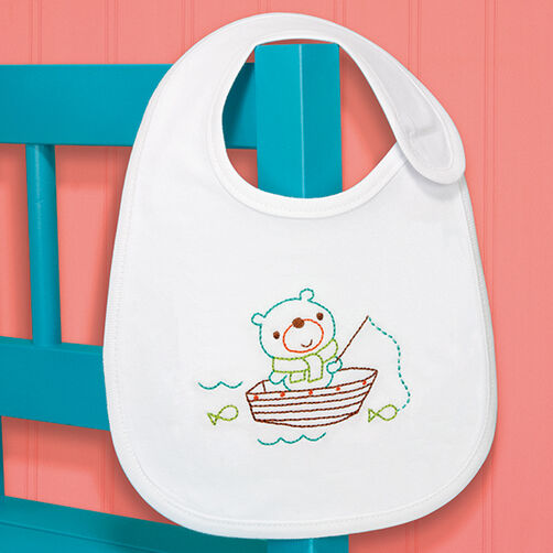 Fishing Bear Bib in Embroidery_70-73966