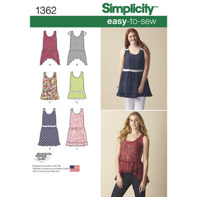 Simplicity Pattern 1362 Misses' Loose-Fitting Mini Dress or Tunic