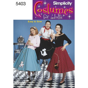 Simplicity Pattern 5403 Misses' Costume Skirts